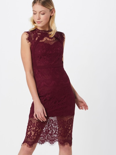 TFNC Kleid 'YSANNE' in burgunder, Modelansicht