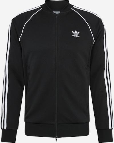 ADIDAS ORIGINALS Prehodna jakna | črna / bela barva, Prikaz izdelka