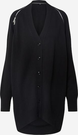 DIESEL Strickjacke 'M-CLEO KNITWEAR' in schwarz, Produktansicht