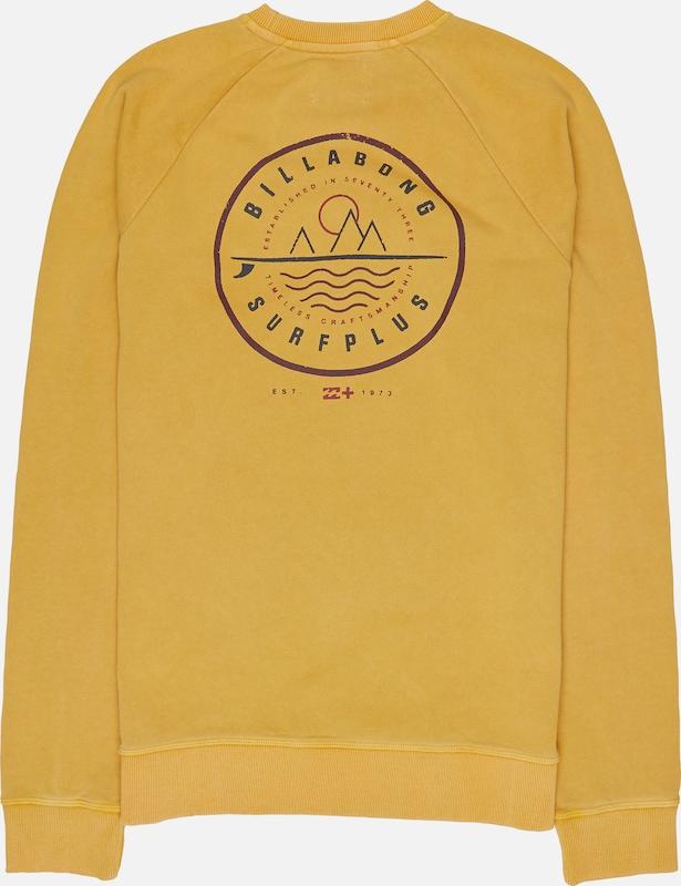 BILLABONG Sweatshirt 'Crossboard Crew' in in in dunkelgelb  Mode neue Kleidung 2066ef