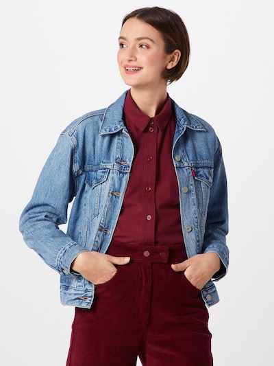 LEVI'S Jacke 'Ex-Boyfriend Trucker' in blue denim, Modelansicht
