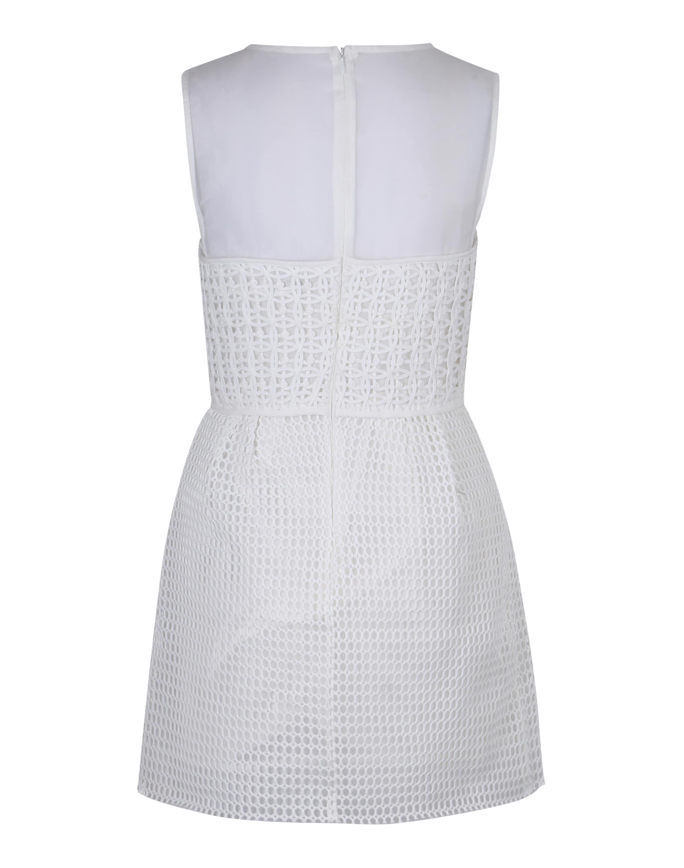 MEXX Kleid mit Borten und transparentem Top Billig Verkauf Finden Große TfOrU