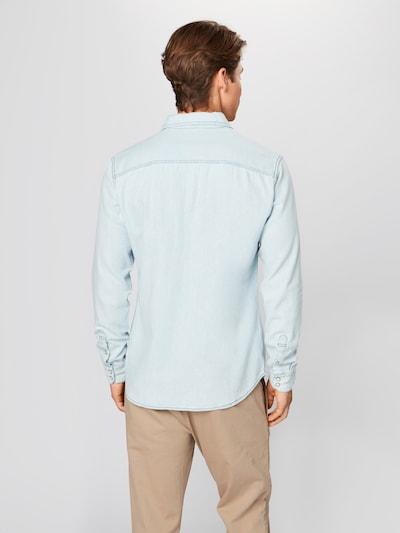 JACK & JONES Overhemd 'JJESHERIDAN SHIRT L/S NOOS' in de kleur Blauw denim: Achteraanzicht