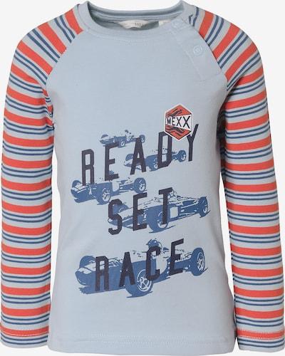 MEXX Shirt in blau / rauchblau / dunkelorange, Produktansicht