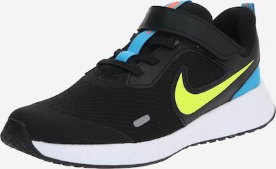NIKE Sportschoen 'Revolution 5' in de kleur Blauw / Neongeel / Zwart, Productweergave