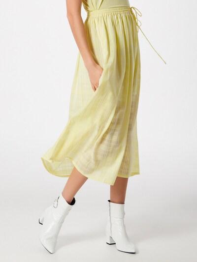 Samsoe Samsoe Jupe 'BRIZA' en jaune / blanc: Vue de face