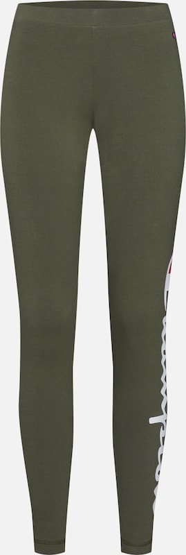 Champion Authentic Athletic Apparel Leggings in oliv: Frontalansicht