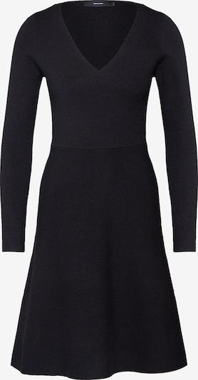 VERO MODA Kleid 'VMNANCY WRAP LS KNIT DRESS' in schwarz, Produktansicht