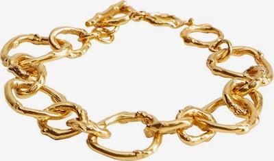 MANGO Bracelet en or, Vue avec produit