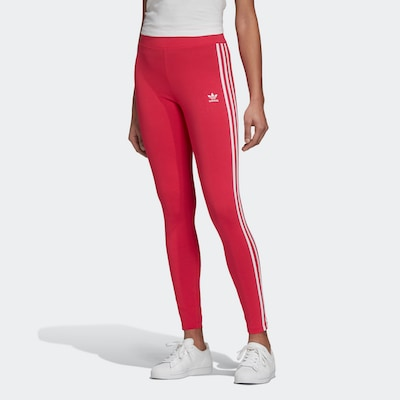 sötét-rózsaszín / fehér ADIDAS ORIGINALS Leggings, Modell nézet