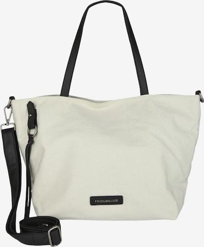 FREDsBRUDER Shopper 'Always At My Side' in silber / weiß, Produktansicht