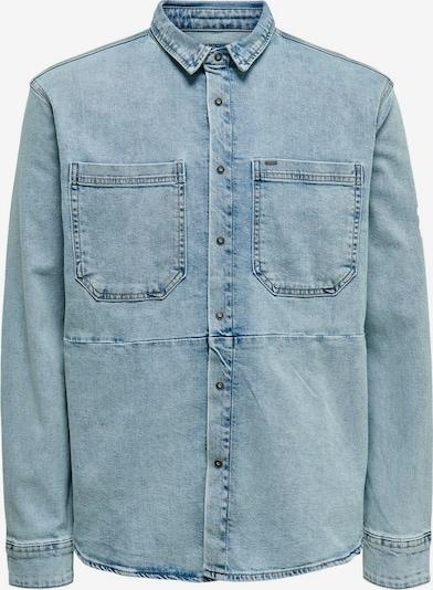 Only & Sons Overhemd in de kleur Blauw denim, Productweergave