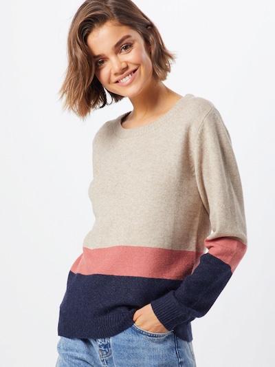 VILA Sweter w kolorze beżowy / niebieski / brązowym: Widok z przodu