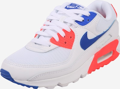 Nike Sportswear Sneakers low 'Air Max 90' in Blue / Orange red / White, Item view