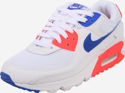 NIKE Sportschoen 'Air Max 90' in de kleur Blauw / Oranjerood / Wit, Productweergave