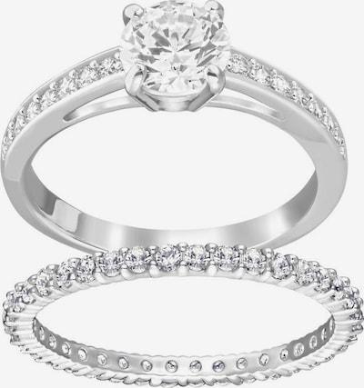 Swarovski Ring-Set 'I do' in silber / weiß, Produktansicht