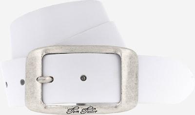 TOM TAILOR Ledergürtel in weiß, Produktansicht