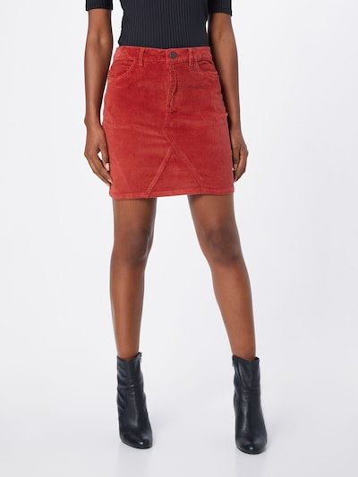 Noisy may Jupe 'NMAYLA NW CORDUROY SKIRT NOOS' en rouge rouille: Vue de face