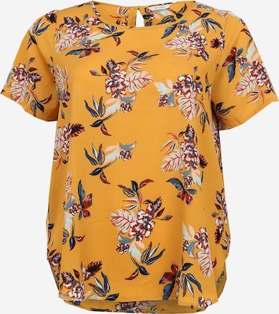 ONLY Carmakoma Shirt 'CARLUXMAI SS TOP AOP' in de kleur Mosterd, Productweergave