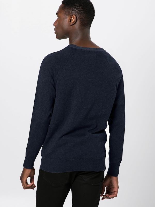 En 'orange Vee' Superdry Pull Label over Cotton Foncé Bleu sQxhrdtC