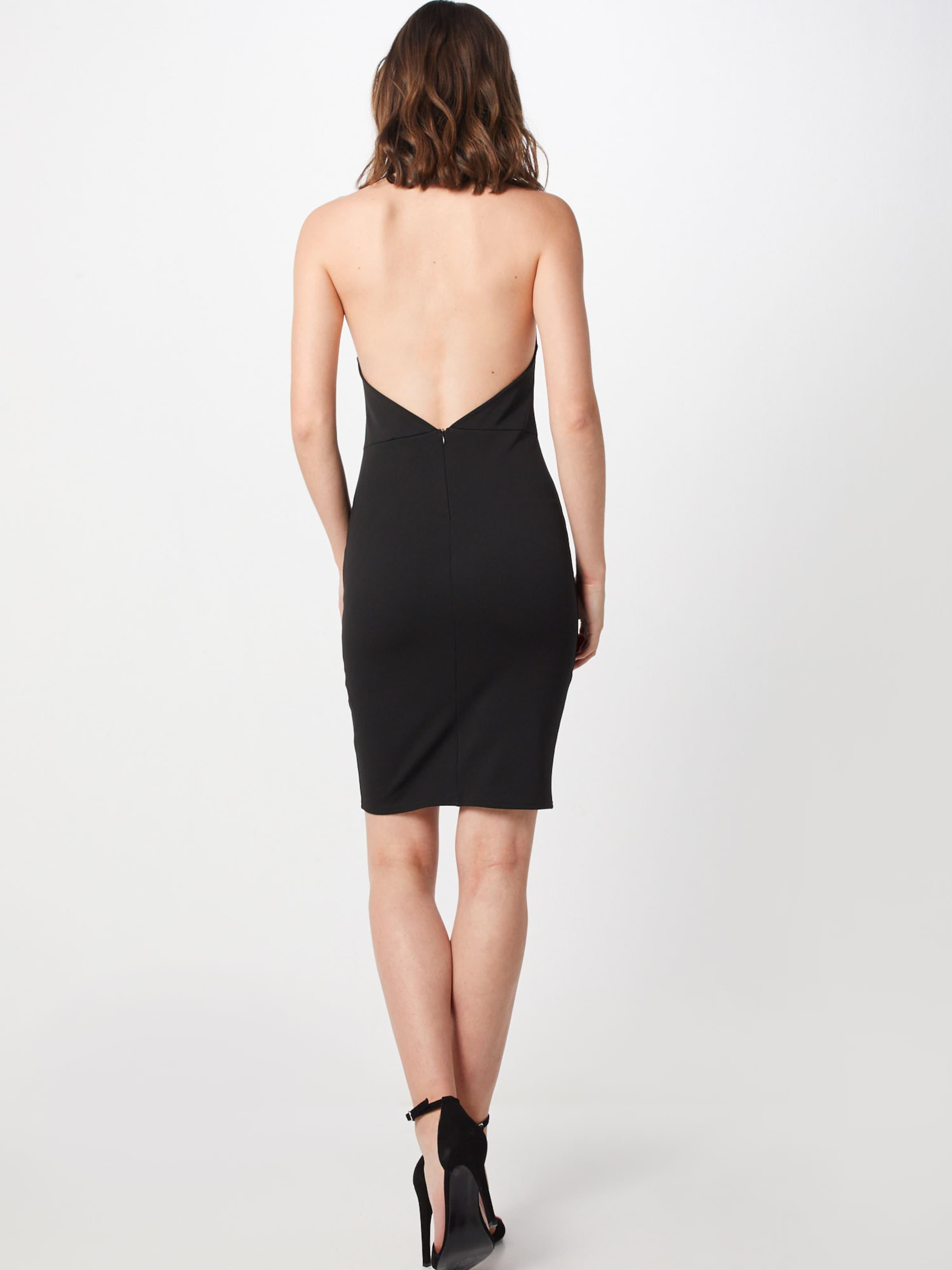 'choker Missguided In Schwarz Mini Kleid Dress' 8O0knwPX
