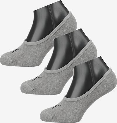 PUMA Füßlinge 'Footie' in grau / schwarz, Produktansicht