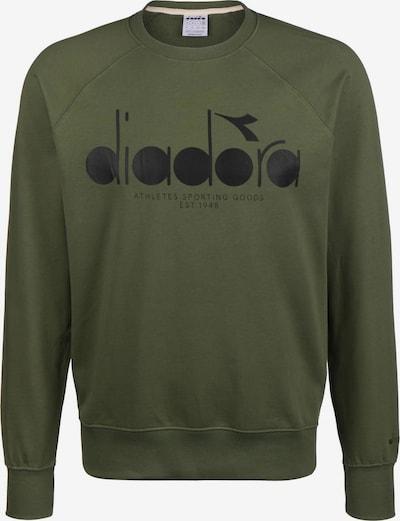 Diadora Sportsweatshirt in dunkelgrün / schwarz, Produktansicht