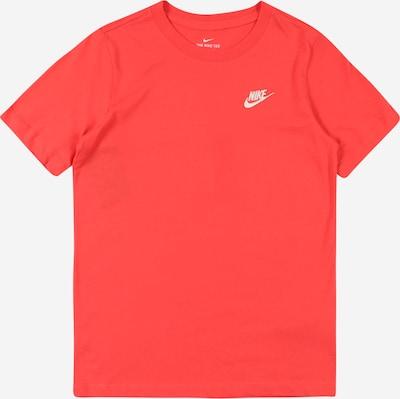 Nike Sportswear Tričko - červená / bílá: Pohled zepředu