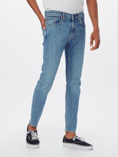 LEVI'S Jeans 'SKINNYHIBALLROLL' in blue denim, Modelansicht