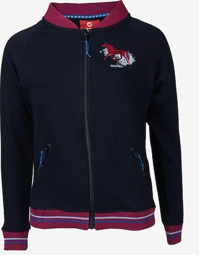 RED HORSE Fleecejacke  'MACKENZIE' in dunkelblau / pink, Produktansicht