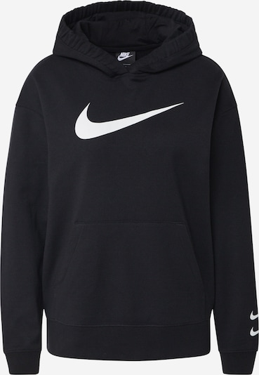 Nike Sportswear Mikina 'Swoosh' - černá / bílá, Produkt