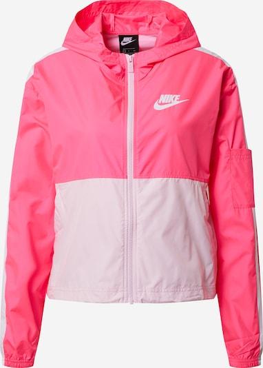 Nike Sportswear Jacke in pink / weiß, Produktansicht