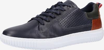 BULLBOXER Sneaker in dunkelblau / bronze / tanne: Frontalansicht
