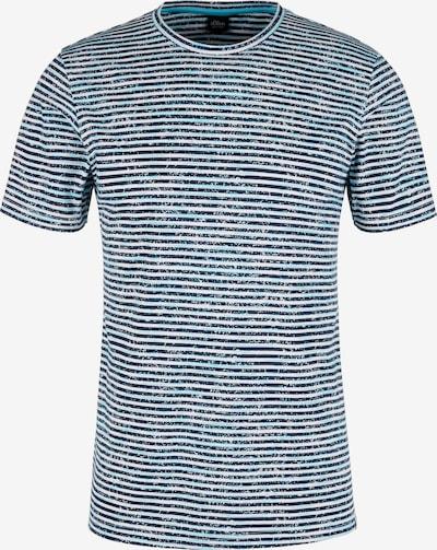 s.Oliver BLACK LABEL T-Shirt in blau / dunkelblau / weiß, Produktansicht