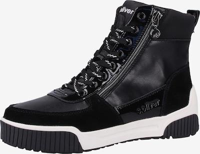 s.Oliver Sneaker in schwarz / weiß, Produktansicht