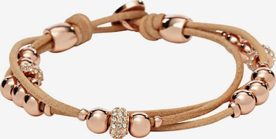 FOSSIL Armband in beige / rosegold, Produktansicht