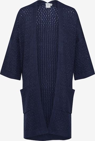 Geacă tricotată 'OLANDA CA2' ICHI pe albastru: Privire frontală