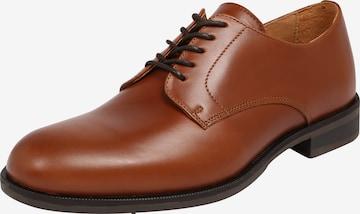 SELECTED HOMME Обувки с връзки в кафяво