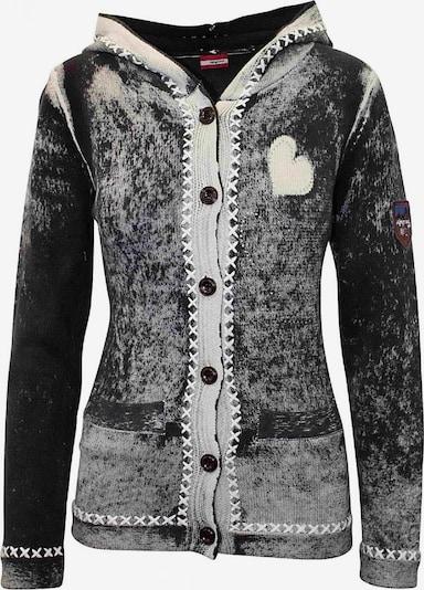 Almgwand Jacke 'Dachsalm' in schwarz / naturweiß, Produktansicht