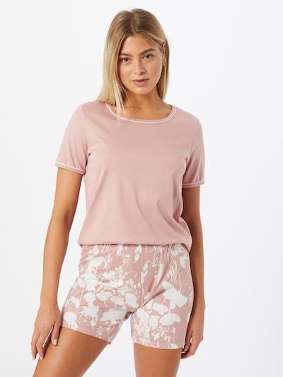 CALIDA Pyjama 'Sweet Dreams' en rose / blanc: Vue de face