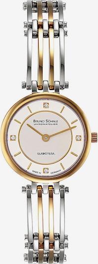 Bruno Söhnle Uhr 'Latina' in gold / silber / perlweiß, Produktansicht