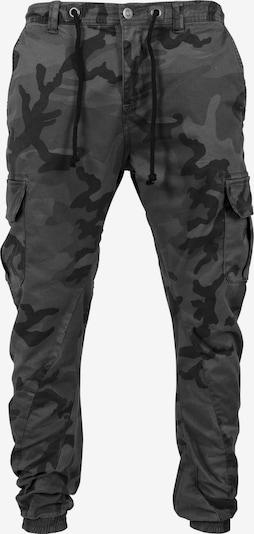 Urban Classics Camo Cargo Jogging Pants in grau / dunkelgrau / schwarz, Produktansicht