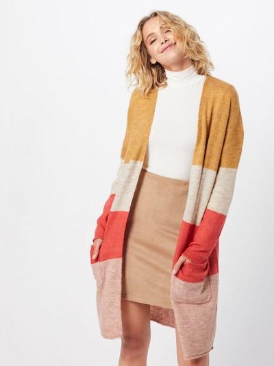 ONLY Sweter 'MIRNA' w kolorze beżowy / złoty żółty / czerwonym: Widok z przodu