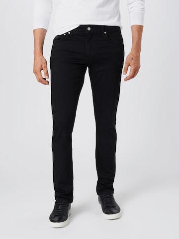 Calvin Klein Jeans Teksapüksid 'CKJ 026 SLIM', värv must