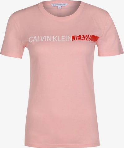 Calvin Klein Jeans Shirt 'STRIPE LOGO SLIM TEE' in rosé, Produktansicht