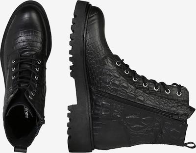 Suvarstomieji kulkšnis dengiantys batai 'Malou' iš ABOUT YOU , spalva - juoda: Vaizdas iš šono