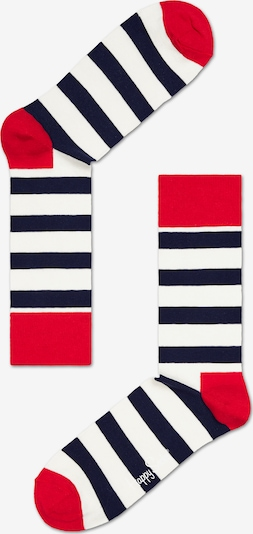Happy Socks Socke 'STRIPE' in rot / schwarz / weiß, Produktansicht