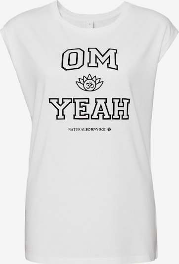 Natural Born Yogi Yoga-top 'om Yeah' in weiß, Produktansicht