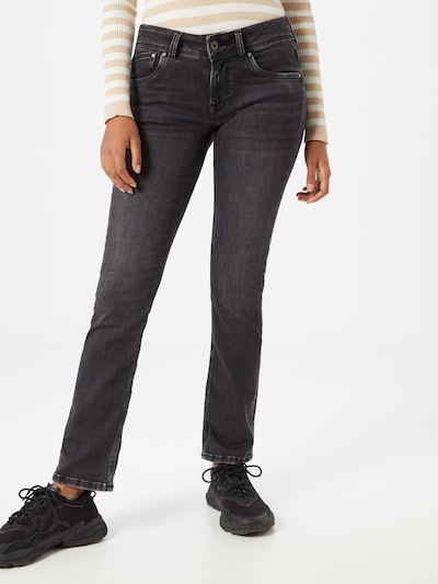 Pepe Jeans Jeans 'Saturn' in de kleur Black denim, Modelweergave