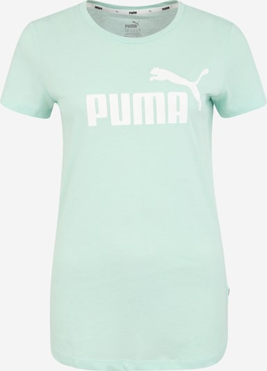 PUMA T-Shirt 'Heather Tee' in mint / weiß, Produktansicht
